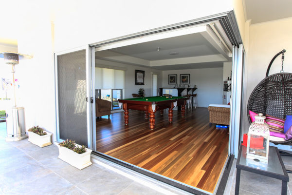 Custom home design back outdoor indoor living hunter valley builder
