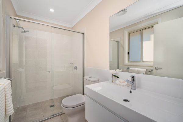 Valley Homes Bolwarra Heights Maitland Duplex Builder bathroom