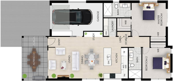 Banksia floor plan architectural Tallowood Valley Homes