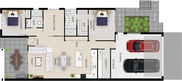 Gymea floor plan architectural Tallowood Valley Homes