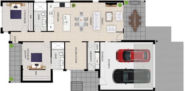 Eucalyptus floor plan architectural Tallowood Valley Homes